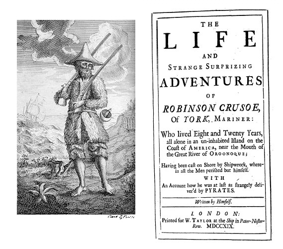 Daniel Defoe, Robinson Crusoe, vol.1 (London: W. Taylor, 1719).